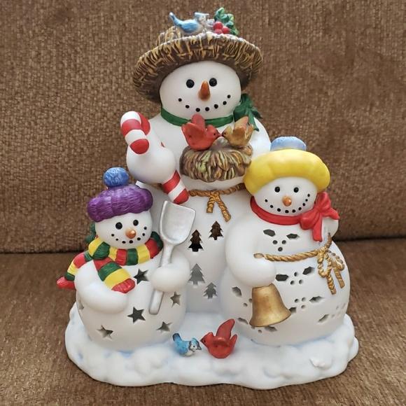 Party Lite Christmas Snowbell Tealight Holder